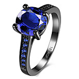Black Gold Plated Rings For Women AAA CZ Diamond Jewelry Sapphire Women Rings Engagement Wedding fingr ring