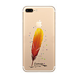 Feather Pattern Creative LOGO Environmental TPU Material Phone Case for iPhone 7 7plus 6S 6plus SE 5S 5G