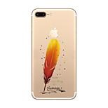 Per Ultra sottile / Transparente / Fantasia/disegno Custodia Custodia posteriore Custodia Con logo Apple Morbido TPU AppleiPhone 7 Plus /