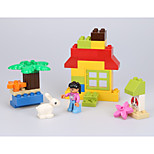 Building Blocks For Gift  Building Blocks Rabbit / Circular / Square Plastic Above 3 Rainbow Toys