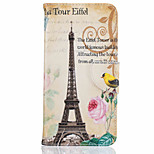 Card Holder Flip Eiffel Tower Pattern Case Full Body CaseHard PU Leather for iPhone 7 7plus 6S 6plus 5 SE
