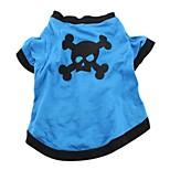 Gatos Perros Camiseta Ropa para Perro Verano Primavera/Otoño Cráneos Casual/Diario Verde Azul