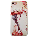 Para Funda iPhone 7 / Funda iPhone 7 Plus / Funda iPhone 6 En Relieve / Diseños Funda Cubierta Trasera Funda Chica Sexy Suave TPU Apple