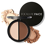 FOCALLURE 2 Colors Makeup Blush Bronzer Highlighter