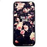 Für iPhone 7 Hülle / iPhone 7 Plus Hülle / iPhone 6 Hülle Geprägt / Muster Hülle Rückseitenabdeckung Hülle Blume Hart Acryl AppleiPhone 7