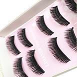 Eyelashes Full Strip Lashes Thick Handmade Fiber Black Band 0.10mm 12mm