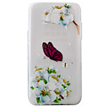 For Samsung Galaxy J5 J5(2016) Case Cover White Butterfly Pattern Painting Super Soft TPU Material