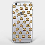 Para Diseños Funda Cubierta Trasera Funda Animal Suave TPU AppleiPhone 7 Plus / iPhone 7 / iPhone 6s Plus/6 Plus / iPhone 6s/6 / iPhone