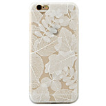 Leaves Pattern Relief Love Hole Position Scrub TPU Material Phone Case  For iPhone 7  7Plus 6S 6 Plus