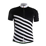 Sports Cycling Jersey Men's Short Sleeve Front Zipper / Ultra Light Fabric / Soft / Comfortable Bike Jersey