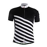 Sportivo Maglia da ciclismo Per uomo Maniche corte BiciclettaTraspirante / Asciugatura rapida / Zip anteriore / Tessuto ultra leggero /