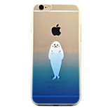Para Funda iPhone 6 / Funda iPhone 6 Plus / Funda iPhone 5 Transparente / Diseños Funda Cubierta Trasera Funda Animal Suave TPU Apple