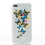 For iPhone 7 Case / iPhone 7 Plus Case / iPhone 6 Case Pattern Case Back Cover Case Butterfly Soft TPU AppleiPhone 7 Plus / iPhone 7 /