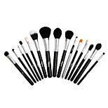 15 Makeup Brushes Set Goat Hair Professional / Portable Wood Face / Eye / Lip