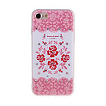 Flowers Pattern 3D Stereo Relief Diamond Scrub TPU Material Phone Case For iPhone7 7 Plus