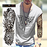 1Pcs New Extra Large Tattoo Waterproof Full Arm Shoulder Temporary Tattoo Super Big Sleeve Tattoo Stickers For Men