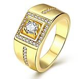 Ringe Hochzeit / Party / Alltag / Normal Schmuck Kubikzirkonia / Kupfer / versilbert / vergoldet / Rose Gold überzogen Herren Ring 1 Stück