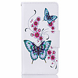 Butterfly Pattern Leather PU Leather Material Leather Phone Case for  Huawei P9 P9 Lite  Y5II  Y6II 5A
