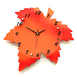 Modern/Contemporary Houses Wall ClockOthers Glass / Wood 41*44cm Indoor Clock