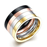 Titanium Steel Wide Bang Ring for Men and Women