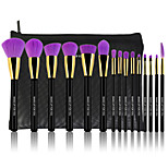 15 Makeup Brushes Set Synthetic Hair Professional / Travel / Full Coverage Wood Face / Eye / Lip MAKE-UP FOR YOU