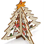 Carved Wooden Pendant Christmas Tree Window  Pattern Is Random