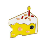 gato lindo broches forma de la torta