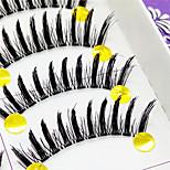 Eyelashes lash Full Strip Lashes Eyes Thick Lifted lashes Handmade Fiber Transparent Band 0.10mm 12mm