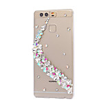 Pour Strass Coque Coque Arrière Coque Fleur Dur Polycarbonate HuaweiHuawei P9 / Huawei P9 Lite / Huawei P9 plus / Huawei P8 / Huawei P8