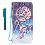 For Samsung Galaxy S7 edge S7  Case Cover with Stylus Three-ring Wind Chimes 3D Painting PU Phone Case S6 edge S6 S5 S4