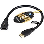 Choseal® HDMI 2.0-HDMI 2.0 1080P / vergoldet / High-Speed / 4K / 3D Kabel 4K*2K 0.3m (1Ft)