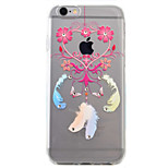 Para Capinha iPhone 6 / Capinha iPhone 6 Plus Transparente / Estampada Capinha Capa Traseira Capinha Pena Macia TPU AppleiPhone 6s Plus/6