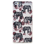 Elephant Pattern TPU Protection Material Phone Case for Huawei Huawei Y5 II Honor 5A Y6 II P9 Lite P8 Lite