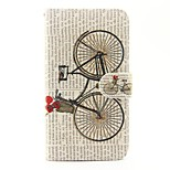 Bicycle Pattern PU Leather Full Body Case with Stand and Card Slot for Wiko Lenny 2 Lenny 3 Sunset 2