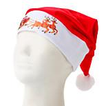 White Side Printing Christmas Hat The Deer And Sleigh
