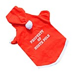 Katzen Hunde Kapuzenshirts Rot Hundekleidung Winter Frühling/Herbst einfarbig Niedlich Weihnachten Neujahr