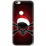 Para Estampada Capinha Capa Traseira Capinha Caveira Rígida PC AppleiPhone 7 Plus / iPhone 7 / iPhone 6s Plus/6 Plus / iPhone 6s/6 /