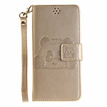 For Sony Case Wallet / Card Holder / with Stand / Flip / Embossed / Pattern Case Full Body Case Animal Hard PU Leather SonySony Xperia X