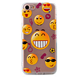 Smiling Face Pattern Relief Tpu Acrylic Material High Through The Phone Shell For iPhone 7  7Plus 6S 6 Plus