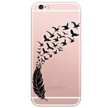 Para Ultrafina / Traslúcido Funda Cubierta Trasera Funda Pluma Suave TPU AppleiPhone 7 Plus / iPhone 7 / iPhone 6s Plus/6 Plus / iPhone