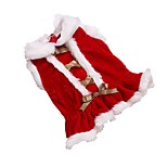 Hot Sale Red Christmas Fleece Dog Dress for Pets Winter Dog Clothes