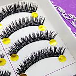 Eyelashes lash Full Strip Lashes Eyes Thick Volumized Handmade Fiber Black Band 0.10mm 10mm