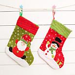 2pcs de Natal meia do Natal lotação saco de presentes de natal enfeites de natal (estilo aleatório)