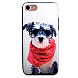 Red Clothes Dog Pattern PC Plus TPU Material Phone Case For iPhone 7 7 Plus 6 6Plus