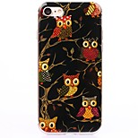Multi Black Cartoon owl TPU Protection Back Cover Case for iPhone 7/7 Plus/6S/6Plus/SE/5S