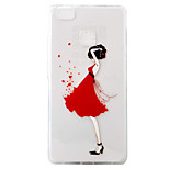 For Huawei Ascend P9 P9Lite P8Lite Case Cover Girl Pattern Painting Super Soft TPU Material