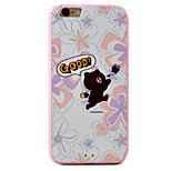 Bear Pattern Relief High Strength Touch Handle TPU Frame  Acrylic Material Phone Shell For iPhone 7  7Plus 6S 6 Plus
