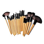 24 Makeup Brushes Set Nylon Portable Wood Face G.R.C / Send Package