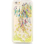 Feathers Back Flowing Quicksand Liquid/Printing Pattern PC Hard Case Cover For iPhone 6s Plus/6 Plus/6s/6/SE/5s/5