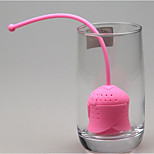 Rose Design Silicone Tea Strainer